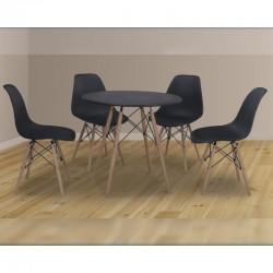 Conjunto mesa redonda y 4...