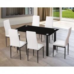 Conjunto mesa y 6 sillas...
